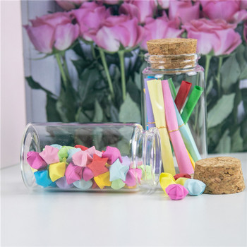 100ml Mini Clear Glass Storage Jars Bottle Vial Container Wishing Bottle with Cork Stopper DIY Jars Bottles Container 24pcs glass test tube corked bottle 15ml tube with flat bottom 27 50mm wishing glass bottle home storage jars for flower 50pcs lot