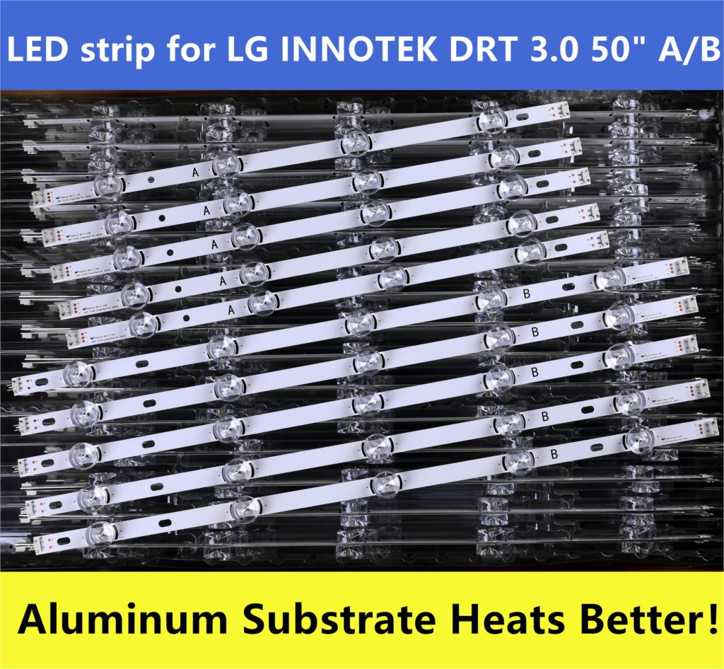 10 Pieces LG50LB5620 LC500DUE(FG)(A4) LED Strip For LG Innotek DRT 3.0 50