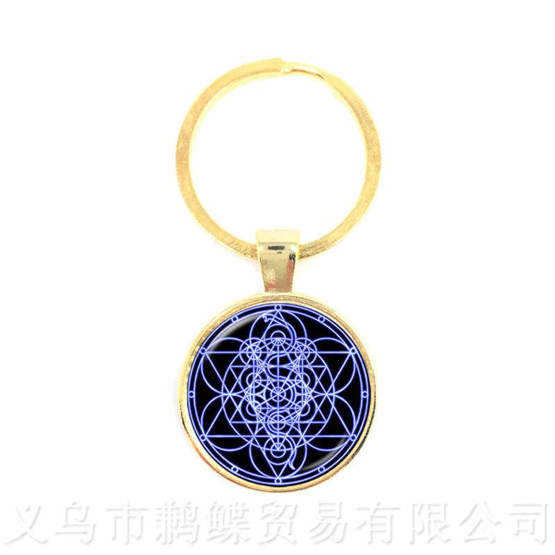 Chaveiros de Parrern Mandala OM Yoga Pingente de Vidro Europeus E Americanos Jóias O Melhor Presente Para Amigos Key Holder