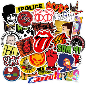 50Pcs/set Rock Music Band Stickers Graffiti Cool Pegatinas For Motorcycle Notebook Laptop Luggage Bicycle Skateboard(China)
