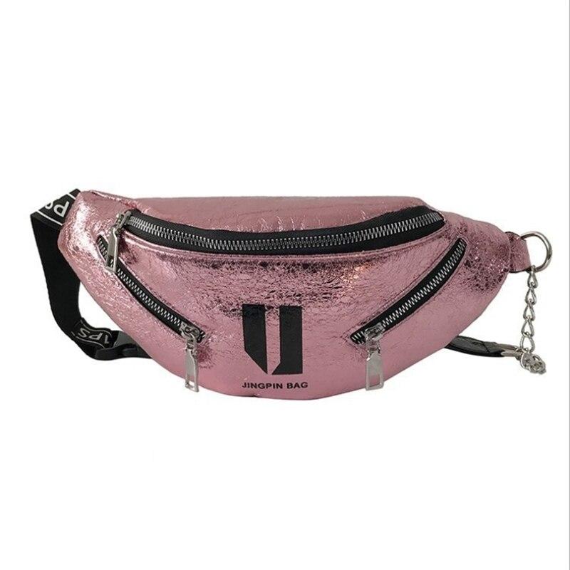 Women Bag Waist Pack Female Fashion Movement Chest Package Phone Storage Accessory Crossbody Bags Burst Cracked Handbag