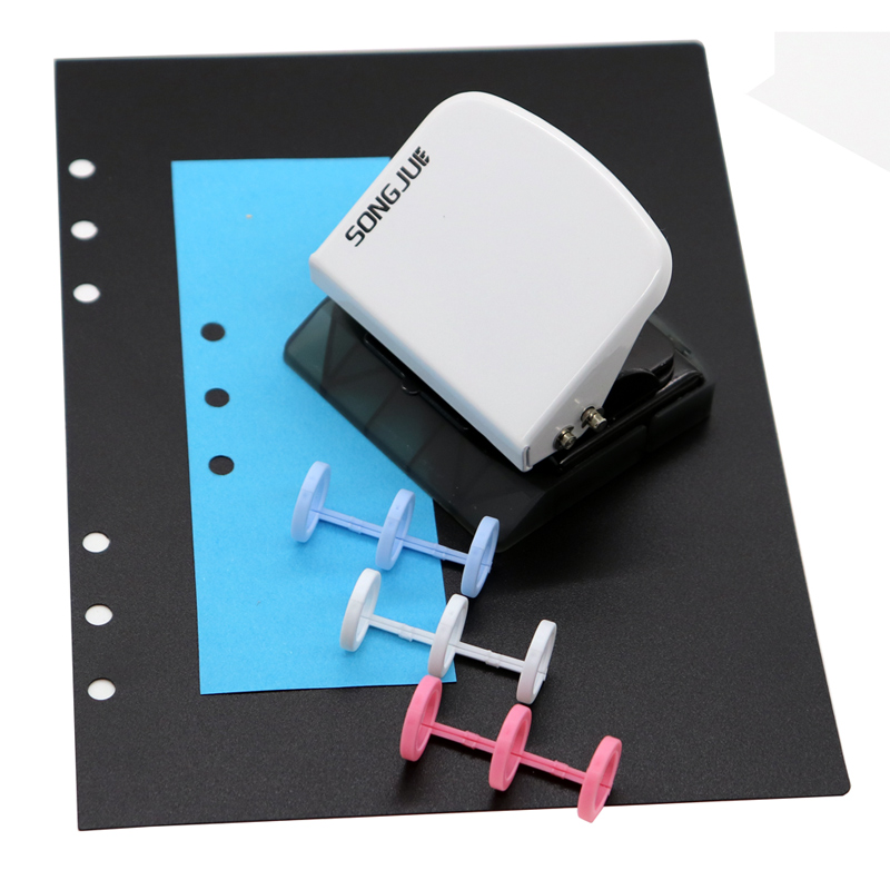 Loose-leaf Three-hole Component Multi-hole Punch Diy Binding Punch P5 (9 Holes) A5 / A6 / A4 (6 Holes) Punch Manual Punch