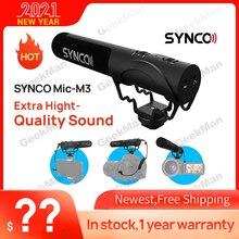 SYNCO Mic M3 على كاميرا بندقية Mic سوبر قلبي مكثف فيديو ميكروفون مع 3.5 مللي متر TRRS TRS كابلات للهواتف الذكية ، كاميرا DSLR