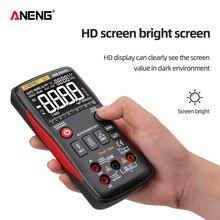 Multímetro digital 9999 t-rms faixa automática lcd dc voltímetro ac amperímetro analógico lcr medidor capacitor ohm hz ncv tester q1