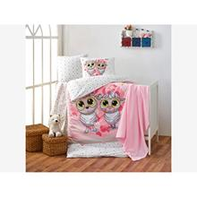 Crystal Baby Duvet cover set Happy Lambs Pink