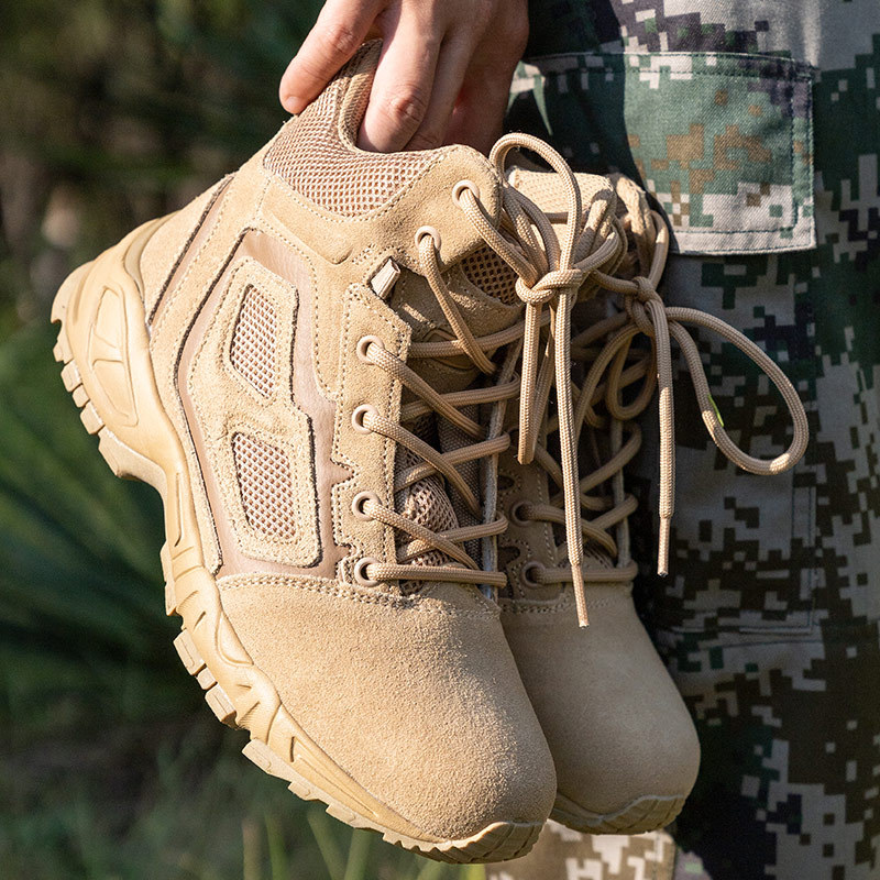 Sandy Color Magnum Combat Boots Elite Red Spider Ultra-Light Combat Boots Breathable MEN'S SHOES Tactical Boots Outdoor Yue Ye X