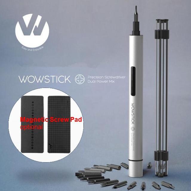 Youpin Wowstick 1p + Try طقم مفك براغي كهربائي 20 بت S2 هيئة الألومنيوم اللاسلكي لمجموعة عدد وأدوات دفتر الهاتف منتصف إصلاح