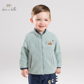 DB12400 dave bella autumn unisex baby solid jacket children fashion outerwear kids coat zipper image