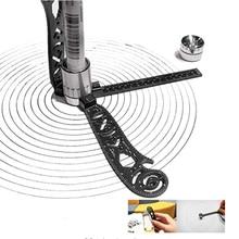 Die Meisten Vielseitiges Werkzeug Design Zeichnung Gebogene Metallic Herrscher Mini Kompass Winkelmesser Combo Muster Drop Shipping