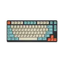 Hami teclas de perfil de cereza Melon para teclado mecánico, tinte de llave, sub, raíz japonesa, Fuente negra, pbt gruesa, gh60, miami, xd84