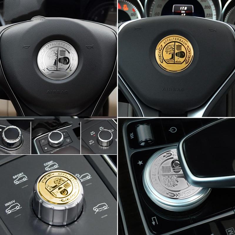 29mm 35mm 47mm 52mm 57mm W204 W205 W213 W212 GLC GLA CLA Engine Star Steering Wheel Center Knob Button Cover Emblem Sticker