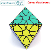 Original VeryPuzzle Clover Octahedron Magic Cube Petal Curve Speed Twisty Puzzle Brain Teasers Educational Toys For Children