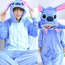 Kigurumi Stitch Long Sleeve Onesie For Adult pajamas women winter plus size Kegurumi Homewear Warm Homewear Cute Animal Pajamas