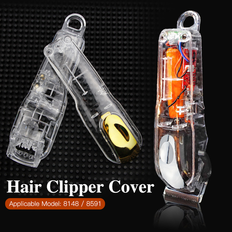 Electric Hair Clipper Accessories Barber Hair Trimmer Case Back Cover Professional Transparent Hair Clipper Cover