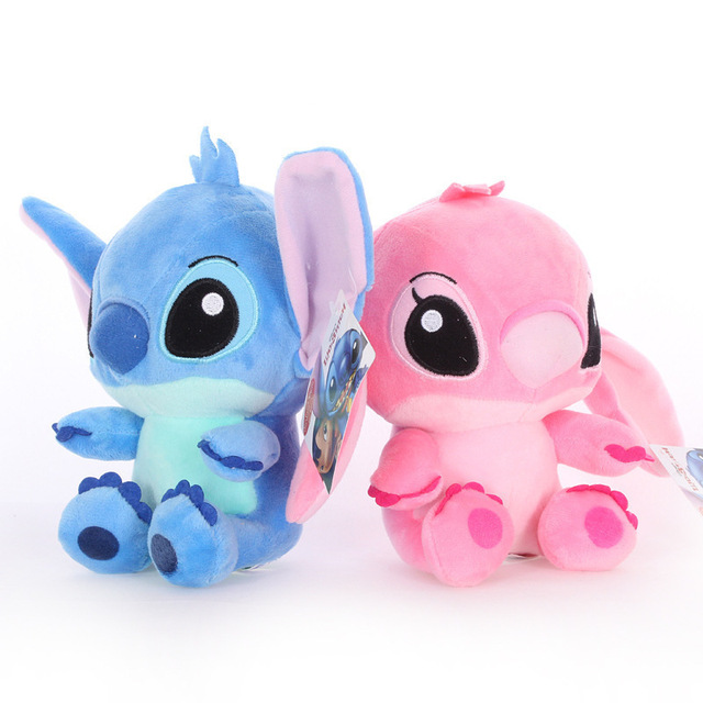 20cm Disney Lilo & Stitch Couple Models Cartoon Stuffed Plush Dolls  Anime Plush Baby Toys Pendant Toys Girl Kids Birthday Gift 2