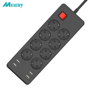 Image 1 - Несколько Мощность полосы Стабилизатор напряжения 4/6/8 способ розетками переменного тока EU электрическая розетка с USB Зарядное устройство адаптер 1,5 м кабель удлинитель
