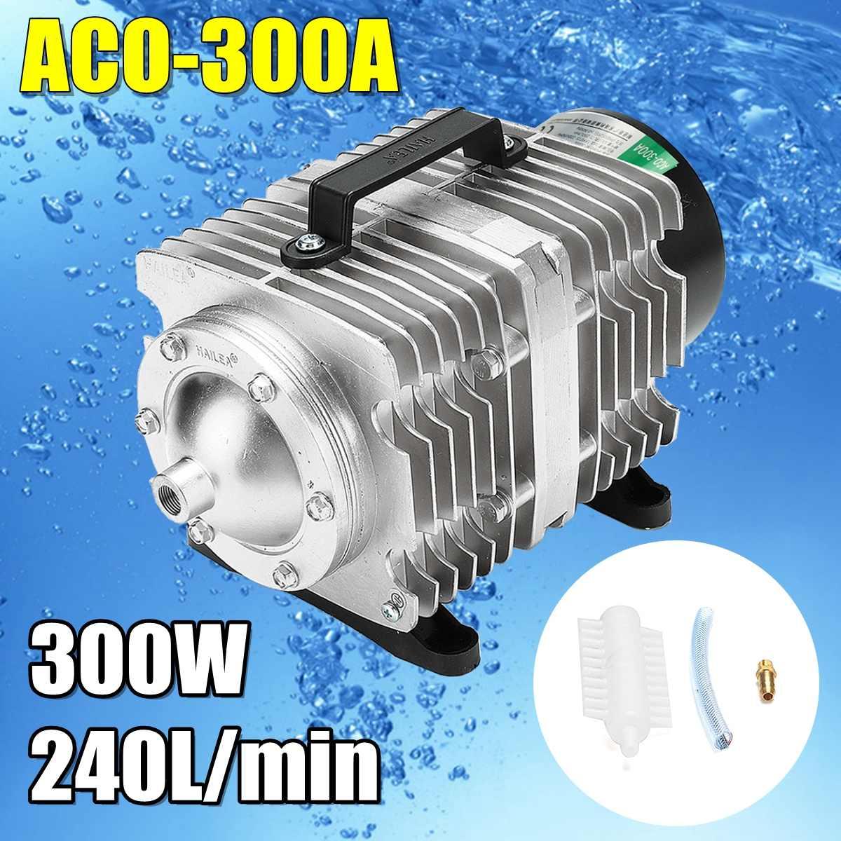 300 Вт AC 220 В 240л/мин воздушный компрессор ACO-300A 0.04Mpa для аквариума электромагнитный насос аквариум с подачей кислорода компрессор для рыбного ...