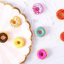 Gommes à donuts couleur bonbon 6 pièces/lot, cadeau Puzzle jouet pour enfants, étudiant, papeterie de bureau