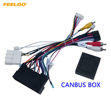FEELDO Car Stereo 16Pin Power Wiring Harness Canbus Support Original USB For Hyundai Elantra/SantaFe/IX45/K3/Sportage/Sorento