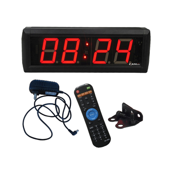 """Large LED Countdown Timer Red 2.3"""" LED Digital Wall Clock Countdown Clock Gym Sports Fitness Timer IR remote control"""