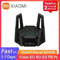 2021 جهاز توجيه شاومي Mi AX9000 WiFi6 إصدار محسّن ثلاثي الموجات USB3.0 شبكة لاسلكية لعبة تسريع مكرر 12 هوائيات