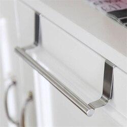 Aço inoxidável suporte de toalha do banheiro rack barra armário porta pendurado titular organizador suporte acessórios cozinha do agregado familiar