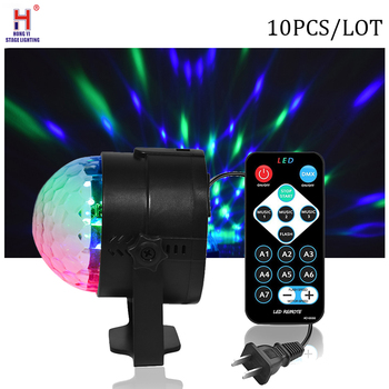 7 Colors Disco Ball 3W Sound Activated Strobe Led RGB effect Lamp Laser Christmas Dj KTV Light Party Show 10psc/lot