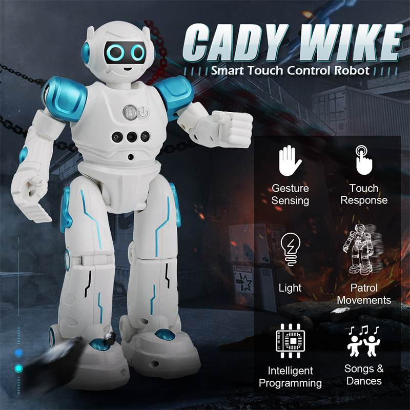JJRC R11 CADY WIKE Smart RC Robot Remote Control Robot Gesture Sensing Touch Intelligent Programming Dancing Patrol Toys Robot