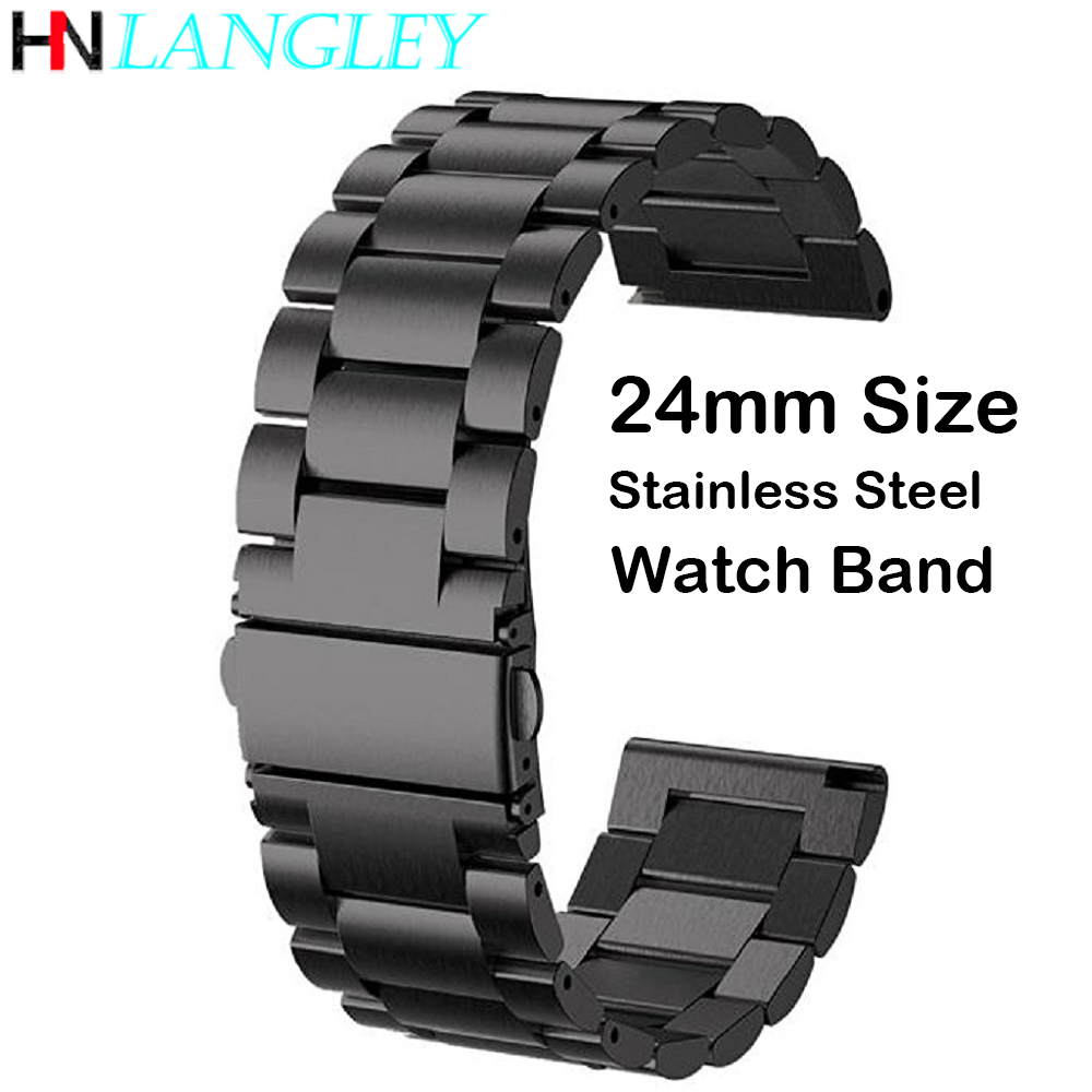 24mm Stainless Steel Wristband Strap Bracelet For Kospet Hope/Optimus Pro/Brave Smart Watch Phone Men Watch Band With Free Tool