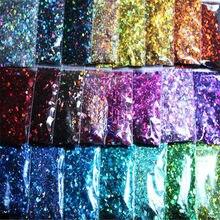 Poudre holographique pour vernis à ongles 3D, 200g, hexagone, taille mixte, paillettes holographiques, DIY, C #