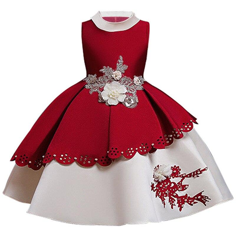 Bambini-Vestiti-Per-Le-Ragazze-Vestito-Dalla-Principessa-Di-Natale-Elegante-Bambini-Del-Partito-di-Sera