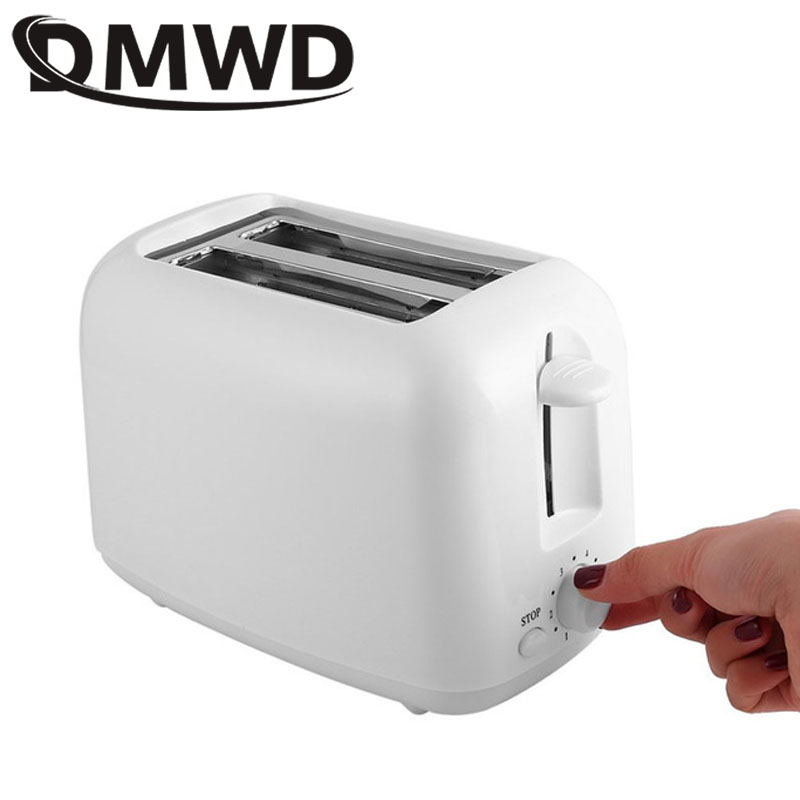 DMWD Household Electric Toast Two Slots Baking Bread Maker Breakfast Machine Automatic Mini Toast Oven Grill 2 Slices EU US Plug Гриль