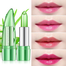 New make-up aloe vera gel jelly lipstick moisturizing not easy to fade color cosmetics