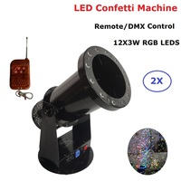 Free Shipping High quality 1200W Led Wedding Confetti Cannon Machine Wedding Machine Confetti Machine for Party Stage Dj Lights
