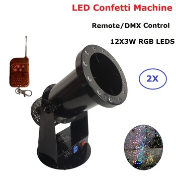 Free Shipping High quality 1200W Led Wedding Confetti Cannon Machine Wedding Machine Confetti Machine for Party Stage Dj Lights 1200w dmx confetti blower stage effect cannon led 12x3w rgb confetti machine for disco party wedding show christmas decorations