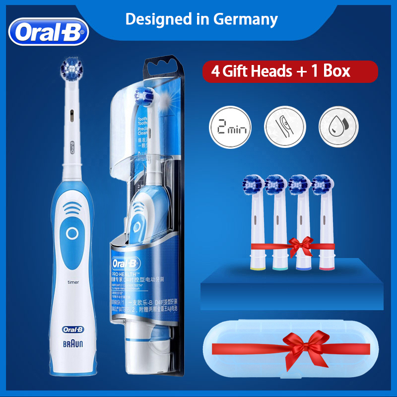 Oral B Sonic Electric Toothbrush D4 Precision Clean Electric Tooth Brush For Children Adults No Rechargeable Brush Heads Timer image