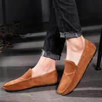 UPUPER Echtem Leder Loafer Männer Schuhe männer Müßiggänger Für Männer Casual Schuhe Slip On Mokassins Männer Wohnungen Schuhe Plus größe 48