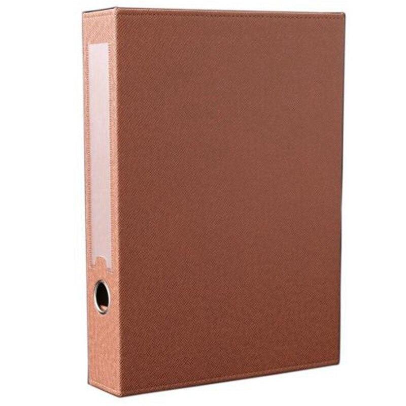 A4 Pu Leather File Folder Document Paper Box Organizer Document Organizer Desktop Organizer