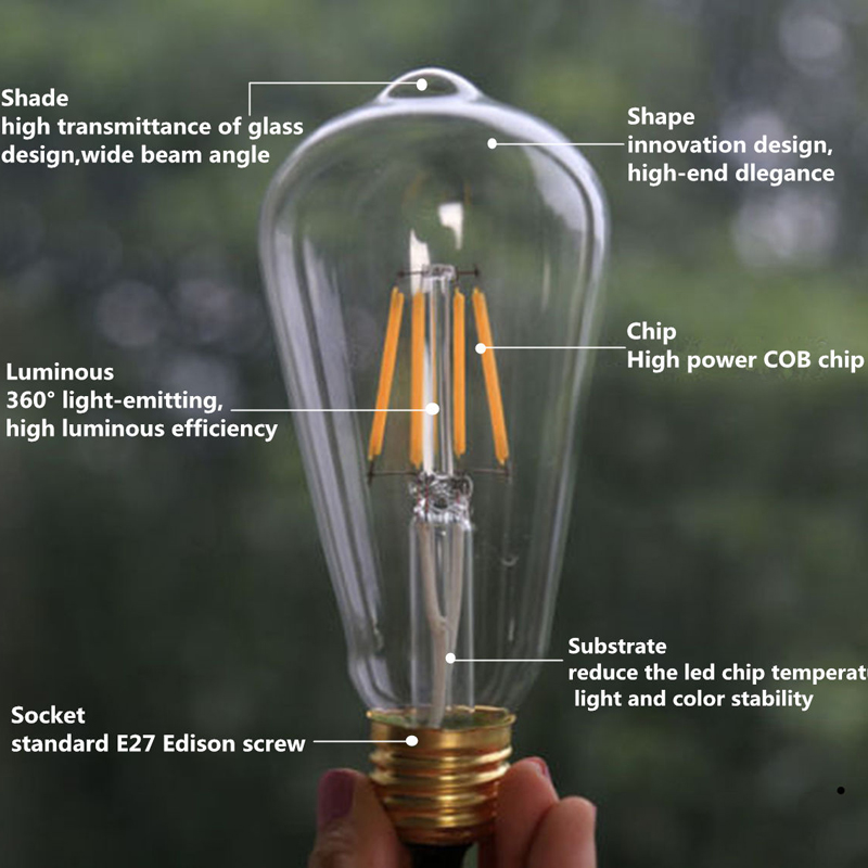 Led Edison Light Bulb Sewing Machine Bulb LED Bulb Lamps Home Lampada LED Light Bulb Bombilla Spotlight Warm White