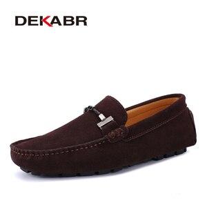 Image 5 - DEKABR Hợp Thời Trang Nam Giày Size Lớn 38 47 Thương Hiệu Mùa Hè Lái Xe Cho Nữ Thoáng Khí Bán Buôn Người Mềm Giày dành cho Nam