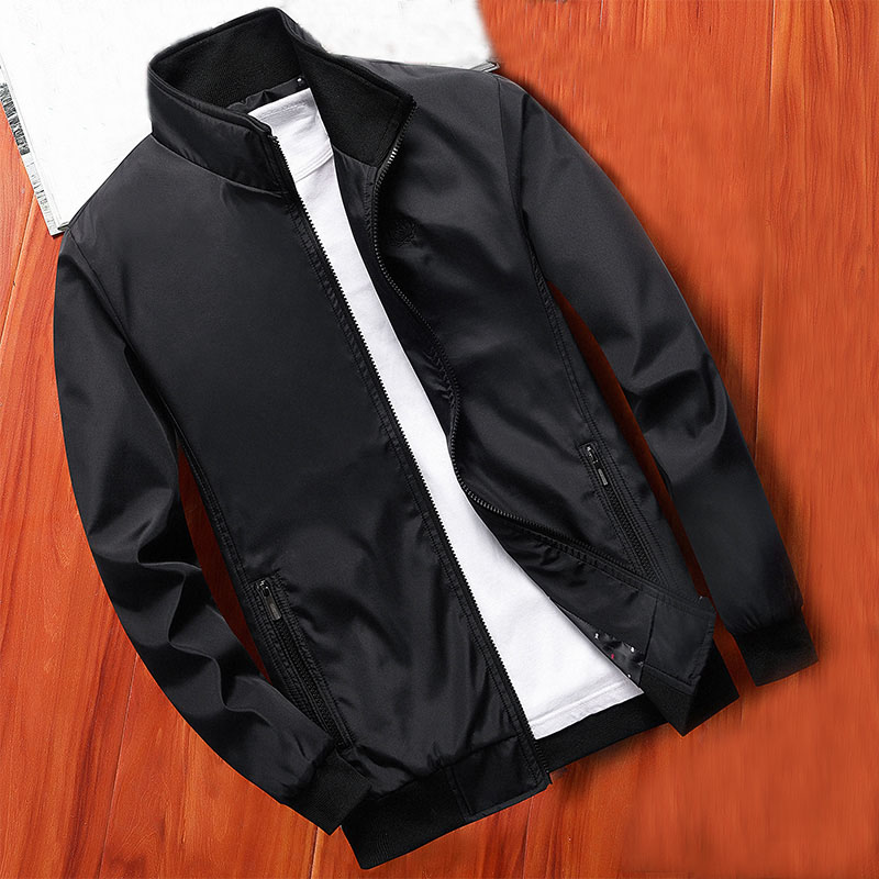 MANTLCONX New Spring Men Jacket Coats Casual Solid Color Jackets Stand Collar Men Business Jacket Brand Clothing Male Outwear 7