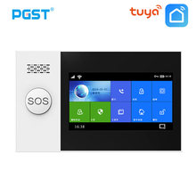 PGST PG-107 Tuya Wireless Home WIFI GSM Home Security With Motion Detector Sensor Burglar Alarm System APP Control Support Alexa
