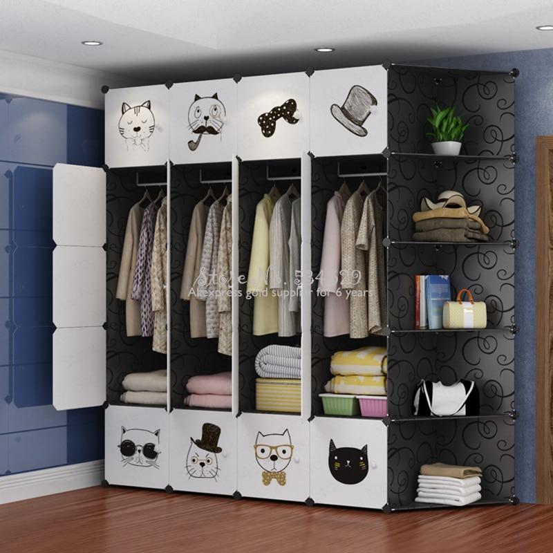 30% f06 armoire pour enfants taille multi porte en plastique adulte simple assemblé armoire simple moderne armoire de rangement économique