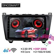 SINOSMART Auto GPS Navigation Player für Mazda 6 Unterstützung BOSE Soundsport Freies Audio IPS/QLED bildschirm 2G/4G Android 2008 12