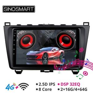 Image 1 - SINOSMART Автомобильный GPS навигационный плеер для мазда 6 Поддержка BOSE Soundsport Free Audio IPS/QLED экран 2G/4G Android 2008 12