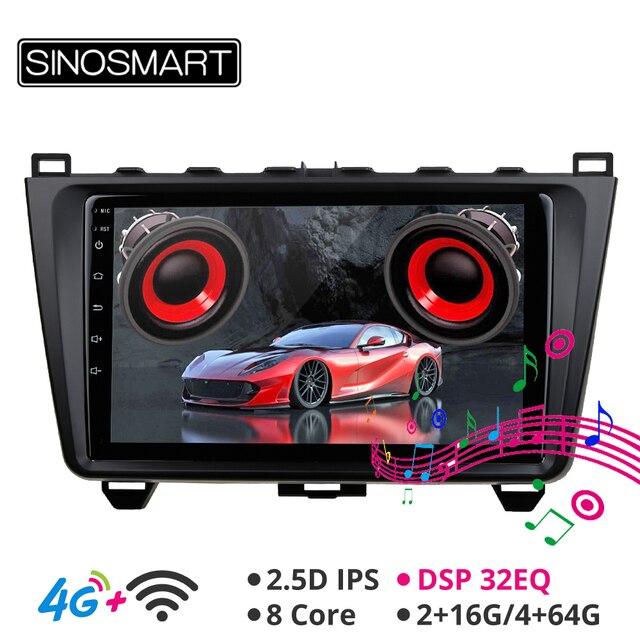 SINOSMART Автомобильный GPS навигационный плеер для мазда 6 Поддержка BOSE Soundsport Free Audio IPS/QLED экран 2G/4G Android 2008 12