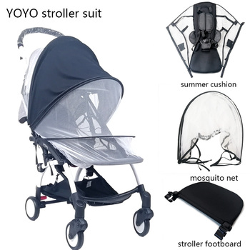 Baby Stroller Mosquito Insect Net Summer Mesh Pram Footrest Soft Summer Mesh Cushion Baby Stroller Accessories For Babyzen Yoyo baby stroller accessories soft breathable yarn baby basket stroller cover sunscreen cloth baby stroller mosquito net for baby
