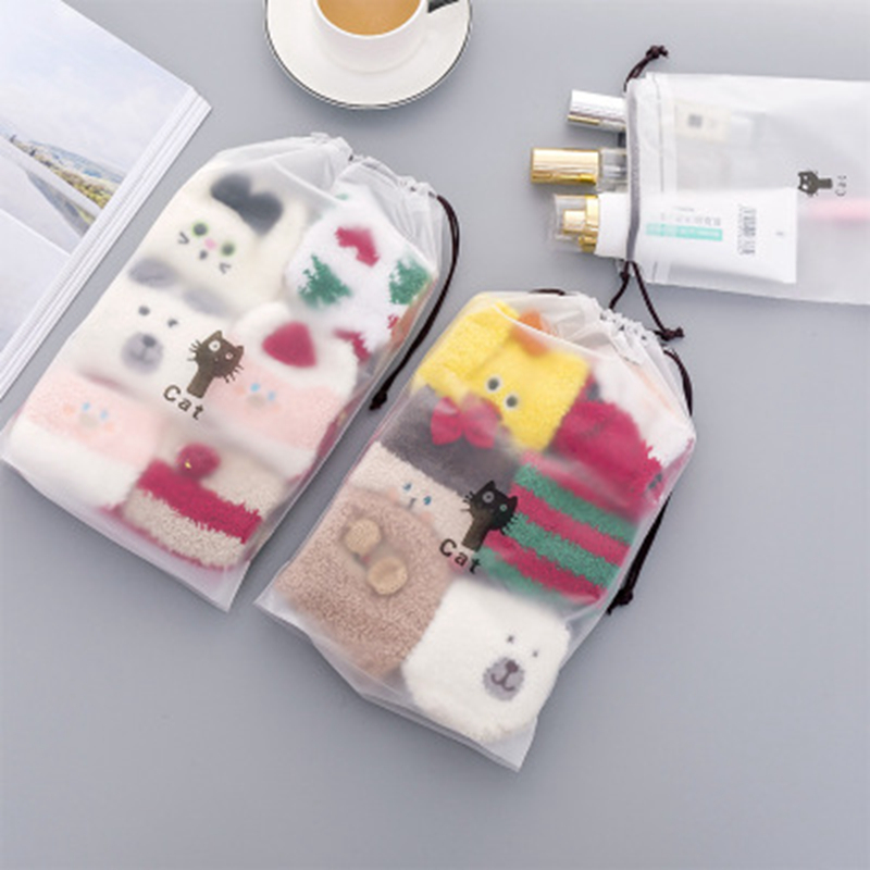 Cosmetic-Bag Handbag-Organizer Makeup-Case Storage-Pouch Toiletry Cat Transparent Zipper