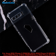 For Asus ROG Phone 3 ZS661KL Case Crystal Clear Shock Absorption Technology Bumper Soft TPU Cover For Asus ROG Phone III i003DD