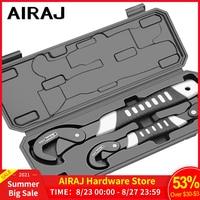 Llave Universal multifunción, juego de llaves inglesas ajustables, herramienta manual de reparación para el hogar, llave de tubo Universal de autosujeción